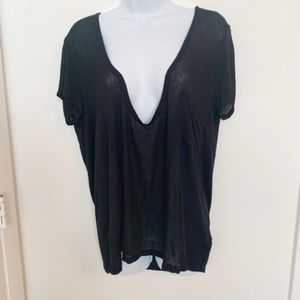 Necessary Clothing Black Scoop Neck Rayon Tee